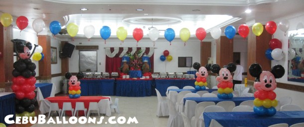 Mickey Mouse Centerpieces at Maria Lina Building