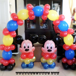 Mickey Mouse Centerpieces with Tall Cake Arch