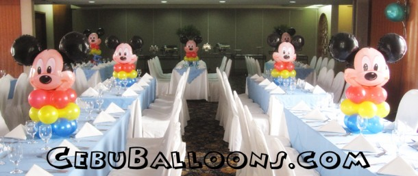 Mickey Mouse Head - Centerpieces