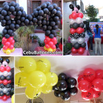 Mickey Mouse formed Cake Arch with other Balloon Decors for Dylan at Centro Mandaue City