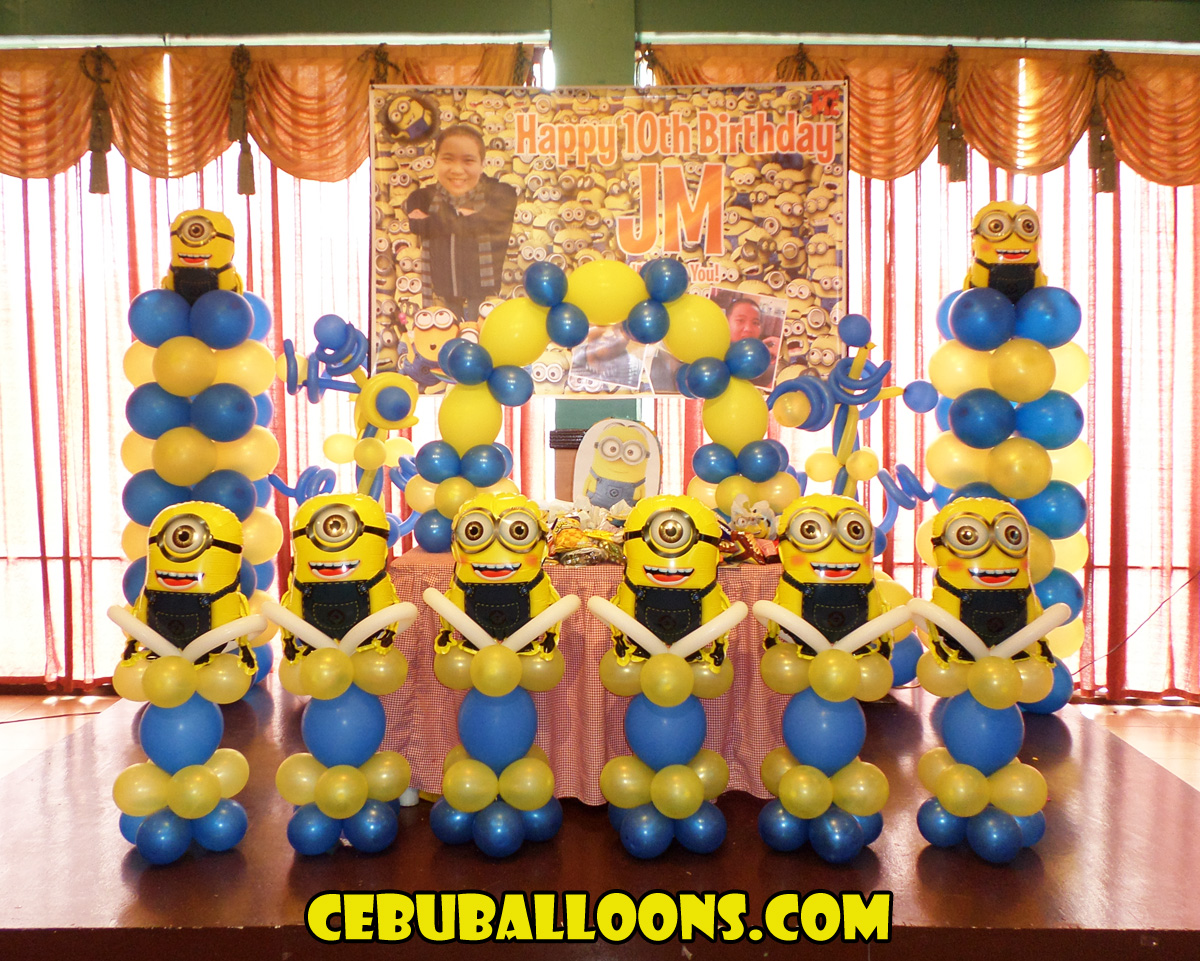Minions Balloon Decoration Jms 10th Birthday At Hannahs Party Place