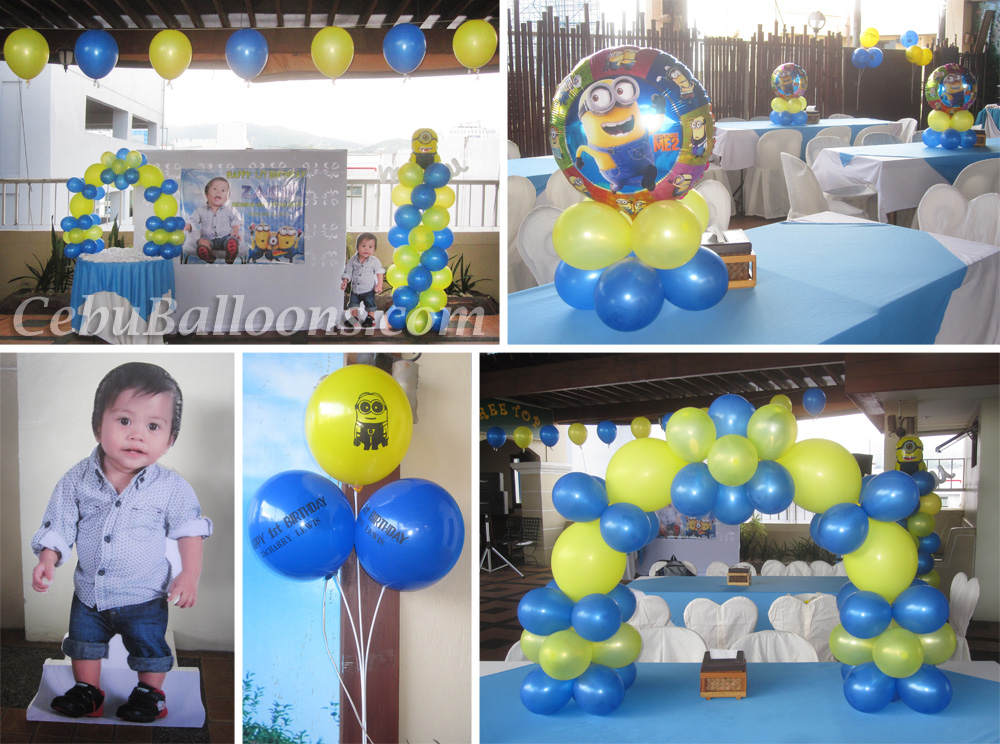 Minions despicable me cebu balloons and party supplies for Balloon decoration equipment