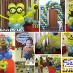 Minions Theme Balloon Setup at AA's Barbeque Pusok