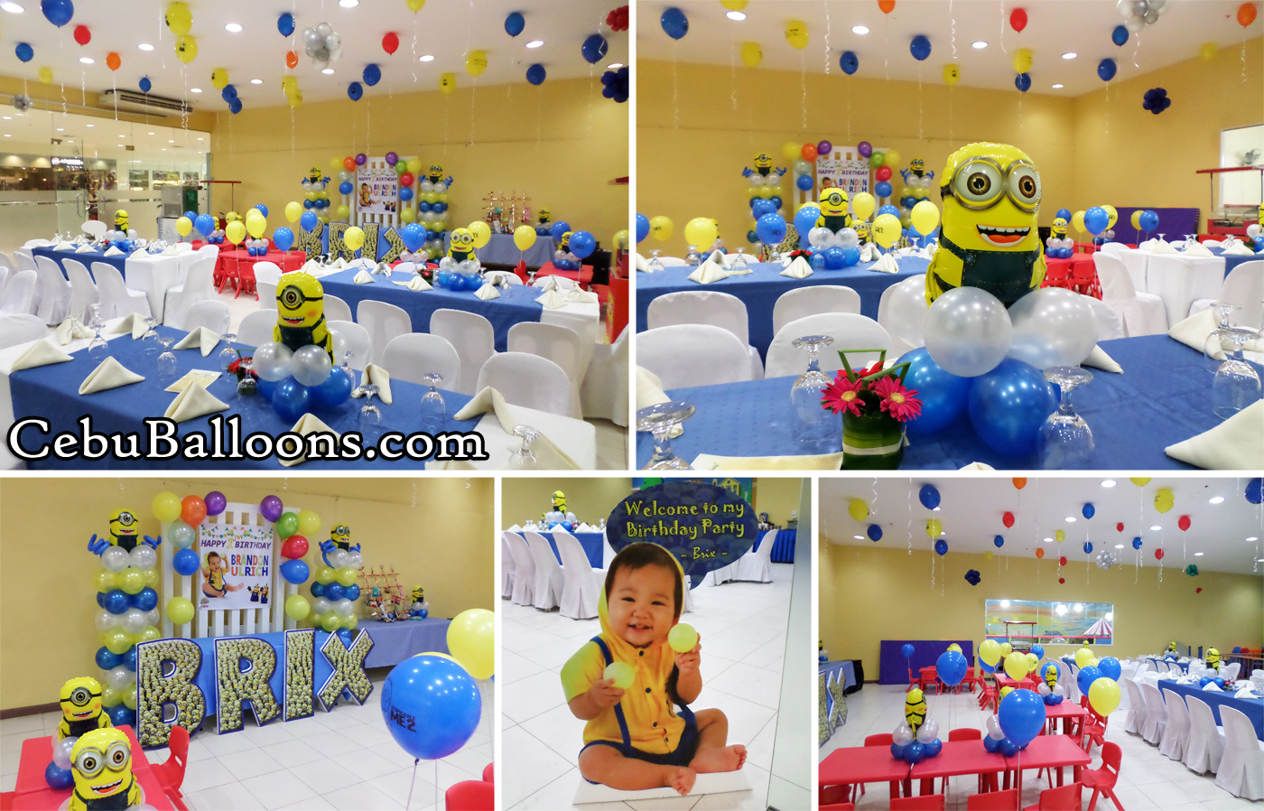 Minions Theme Balloon Decoration With Styrocrafts At Playmaze Parkmall