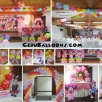 Minnie Mouse Balloon Decoration Setup Composite at Sacred Heart Center
