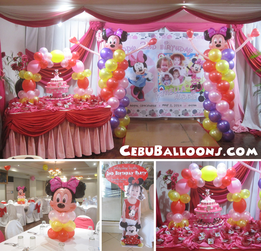 Minnie mouse cebu balloons and party supplies for Balloon decoration minnie mouse