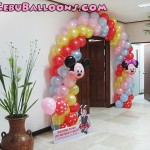 Minnie Mouse Balloon Entrance Arch & Welcome Standee