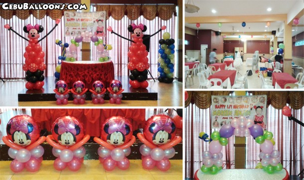 Minnie Mouse Balloon Setup at Hannah's Function Room