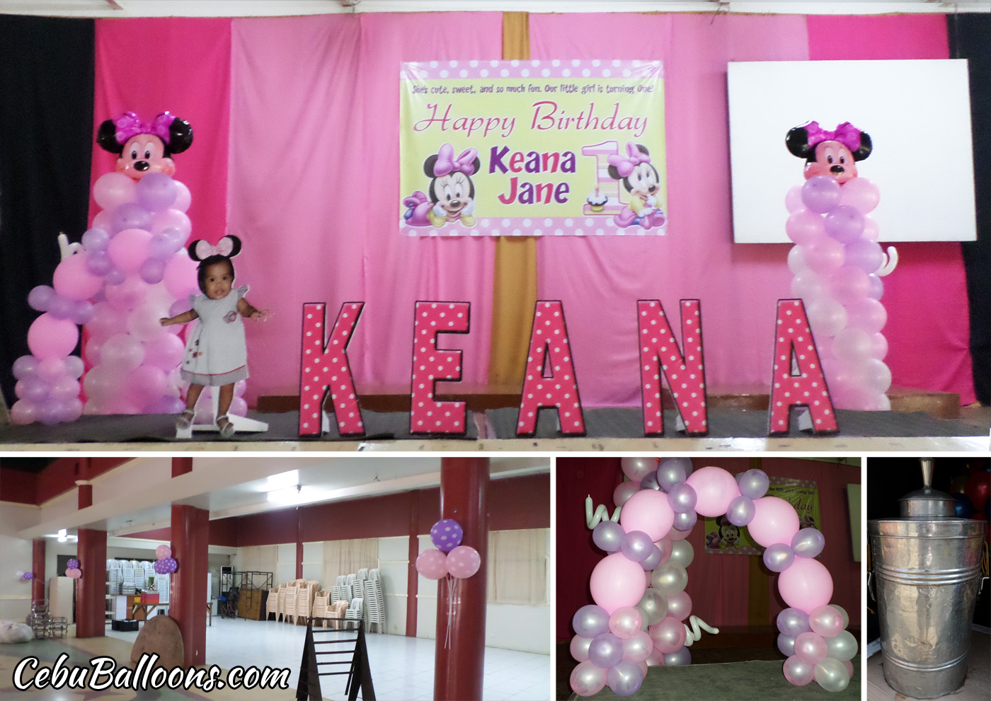Minnie Mouse Birthday Decoration For Keana Jane At Cebu Chamber Of Commerce