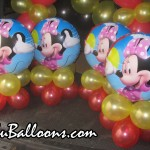 Minnie Mouse Centerpieces (Red & Yellow Balloons)