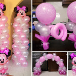 Minnie Mouse Columns, Cake Arch & Centerpieces at Sta Lucia, Consolacion
