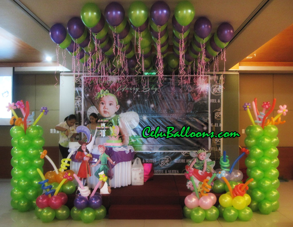 Neverland Tinkerbell Balloon Setup At Allure Hotel