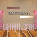 Pink Balloons & Letter Standees for a Debut at Bayfront Hotel