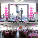 Pink & Hot Pink Balloon Decoration at Margarita Cuisine Robinland