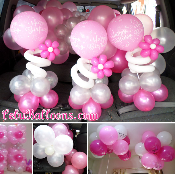 Pink, Hot Pink, White, Silver Balloons (Tutu Theme) at T Padilla