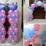 Pink, Light Blue, White Balloon Decors for Christening in Paknaan, Mandaue
