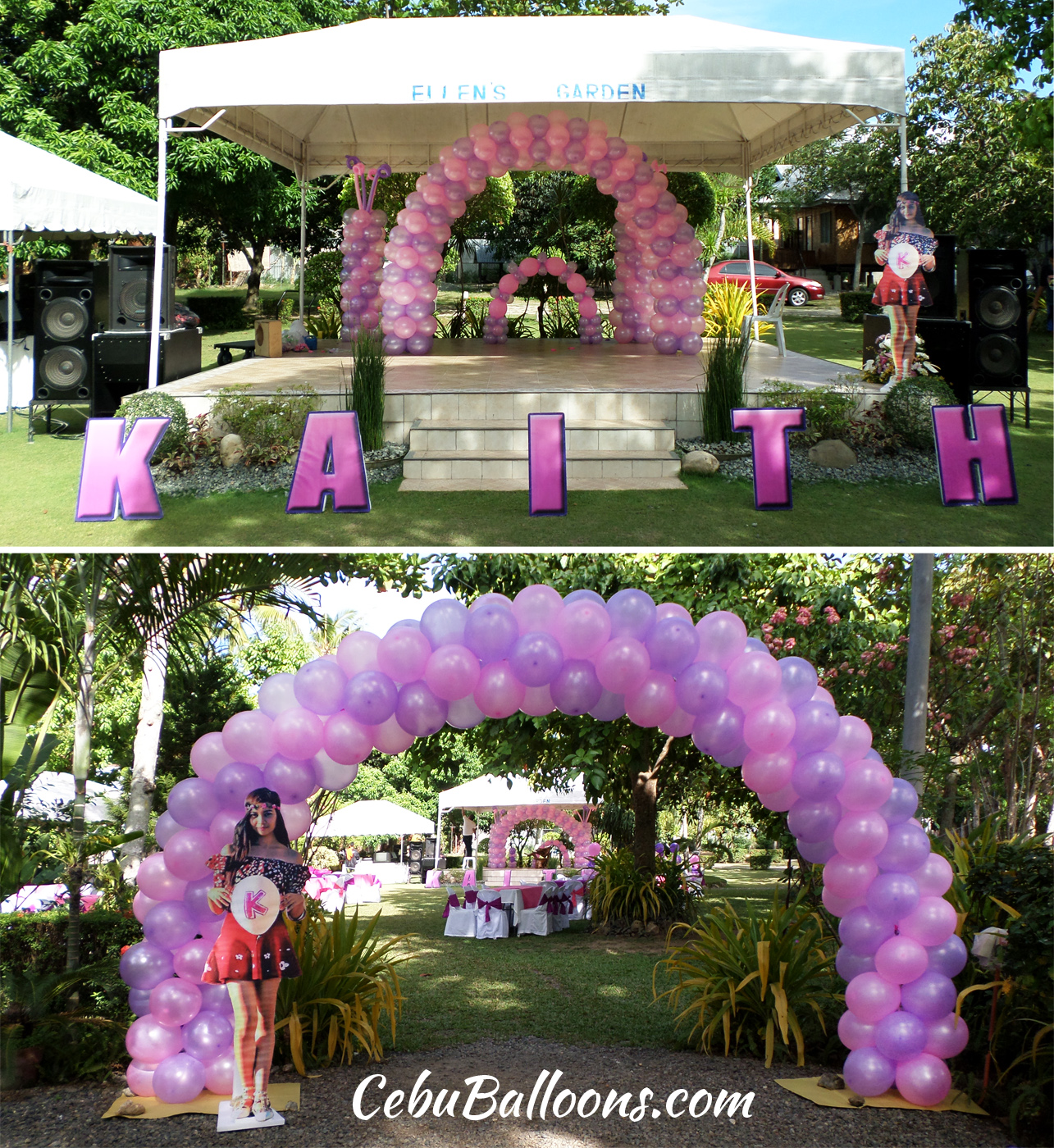 Decorating an outdoor party venue with balloons cebu for Balloon decoration for birthday party philippines