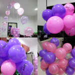 Pink & Purple Balloons for a 71st Birthday