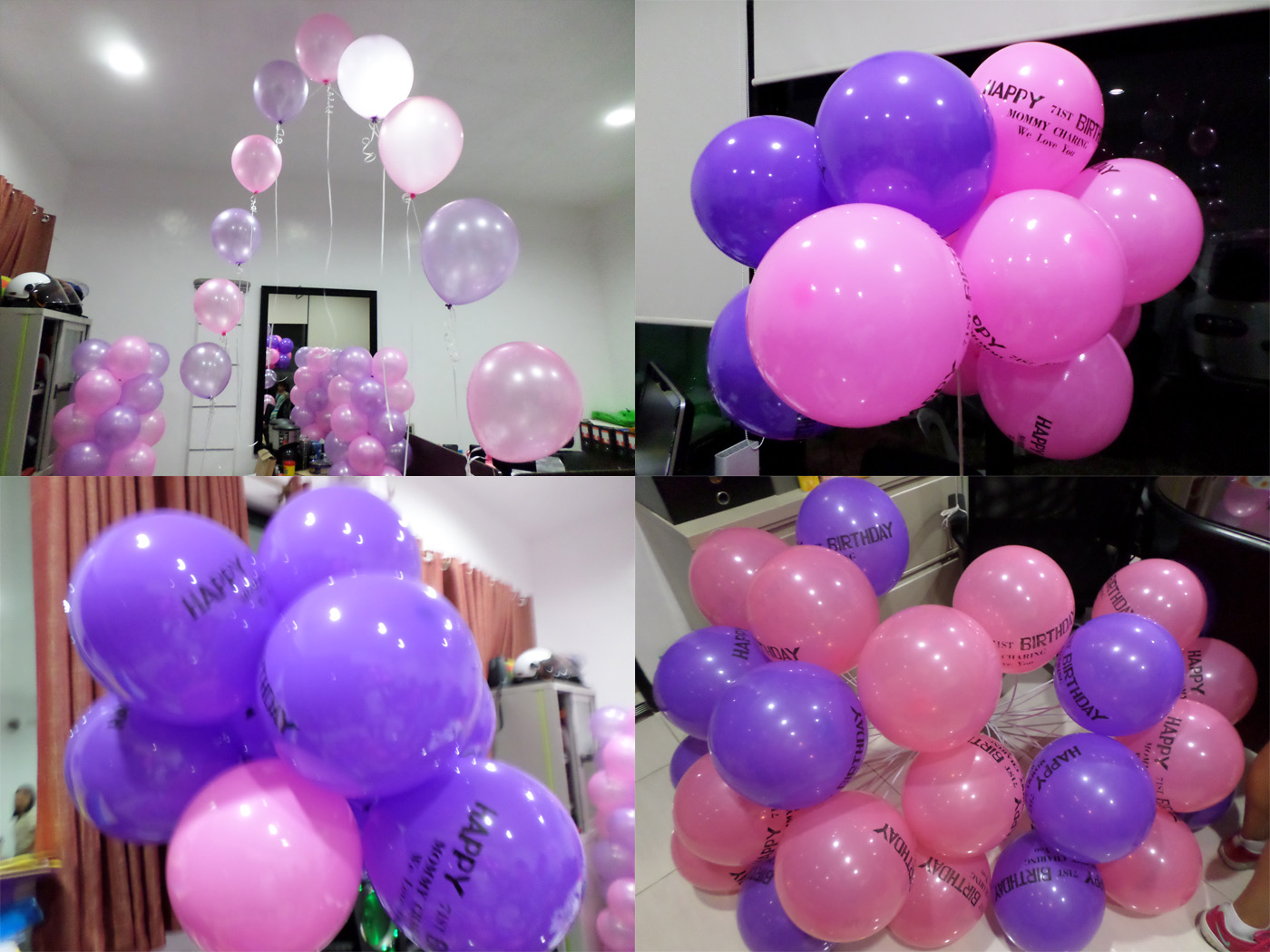 Pink purple cebu balloons and party supplies pink purple balloons for a 71st birthday junglespirit Image collections