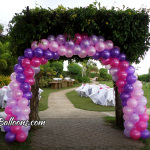 Pink & Violet Balloon Entrance Arch at Chateau de Busay