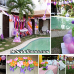 Pool Party Decoration at Fairview Subdivision