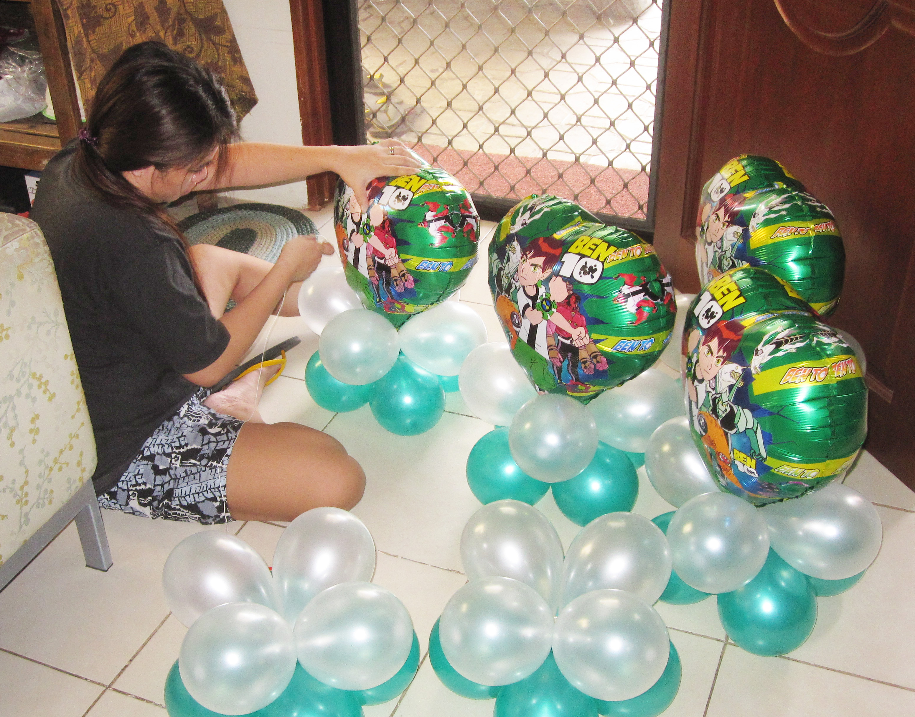 Ben 10 cebu balloons and party supplies for How to make balloon arrangements for parties