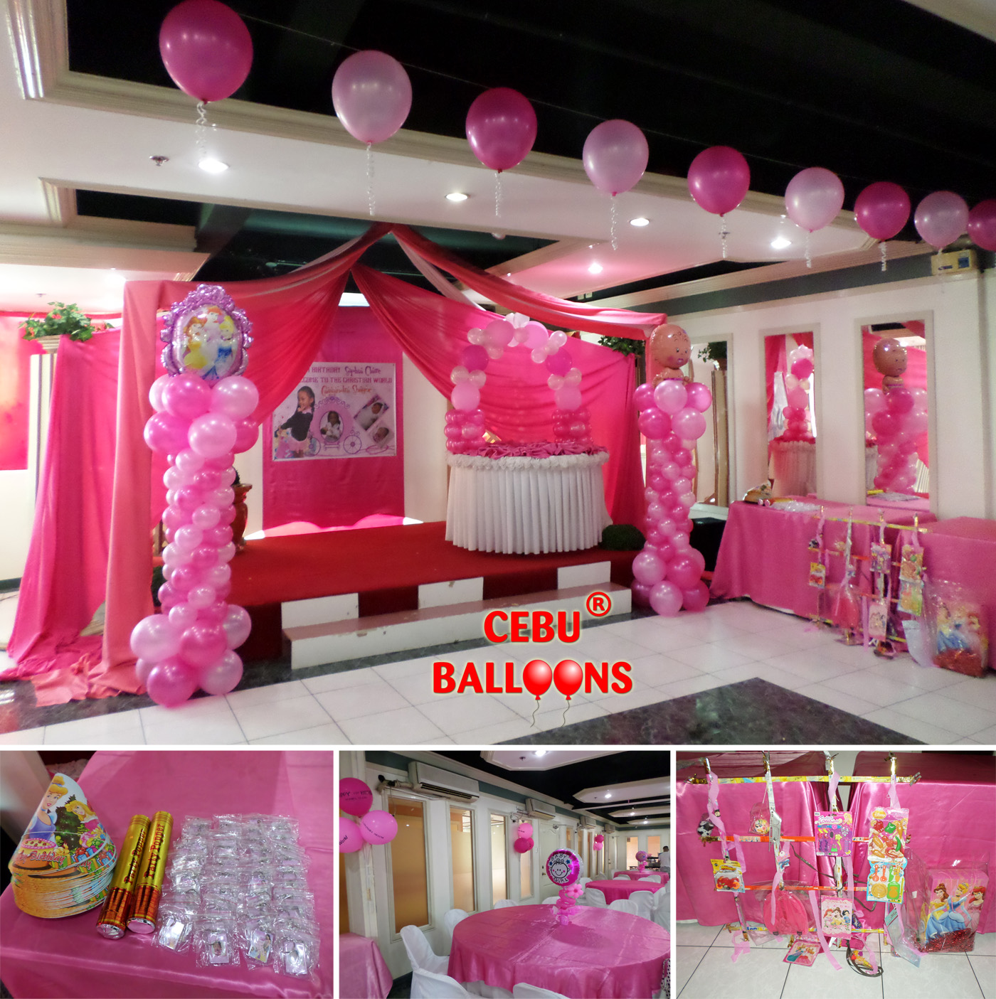 princess christening decoration party package at metro park hotel