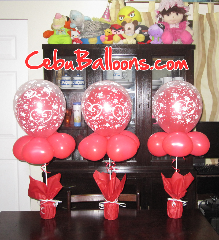Balloon stick centerpieces pictures to pin on pinterest