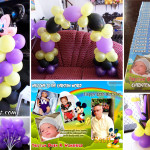 Purple, Yellow, Black Mickey Mouse Bunyag Package A