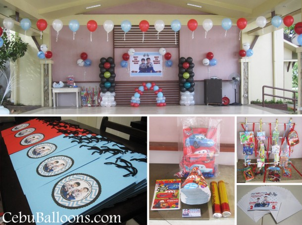 Cars lightning mcqueen cebu balloons and party supplies for Balloon decoration packages manila