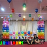 Rainbow Balloon Decoration at Dohera Hotel