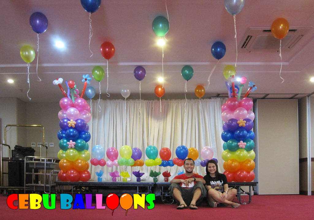 Rainbow Balloon Decoration At Dohera Hotel Cebu Balloons