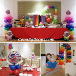 Rainbow Theme Balloon Decoration with 5ft Standee at Tsay Cheng Restaurant