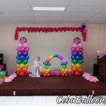 Rainbow Theme Balloon Setup for Venice's 1st Birthday at LEMCO