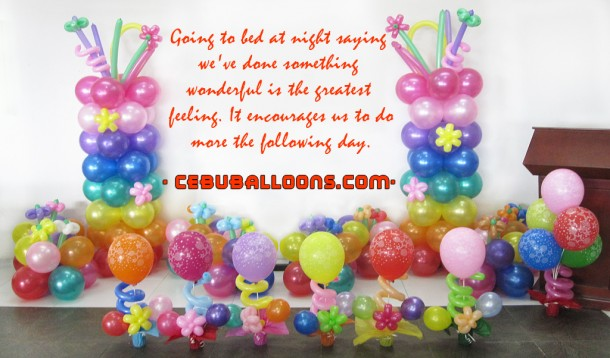 Rainbow Theme Decoration with Quote