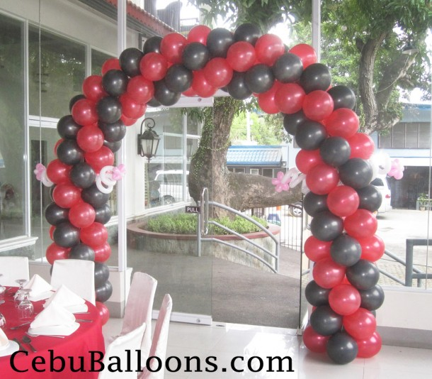 Red & Black Entrance Arch for a Ladybug Party
