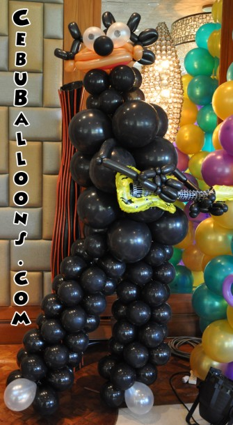 Rock Star Balloon Sculpture (Black)