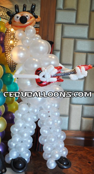 Rock star Balloon Sculpture (White) at Shangri la Mactan