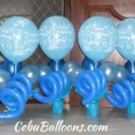 Shades of Blue Balloon Centerpieces for Christening