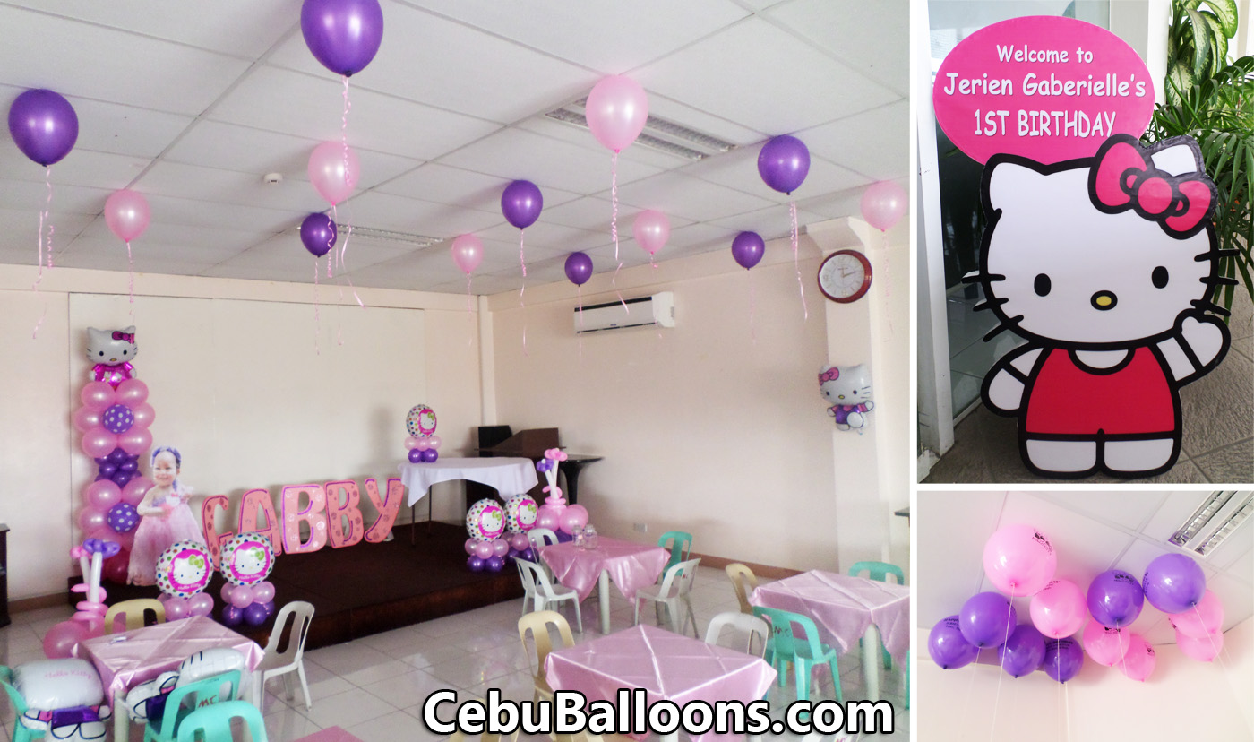 Sanrios Hello Kitty Balloon Setup At Mactan Tropics For A Birthday Party
