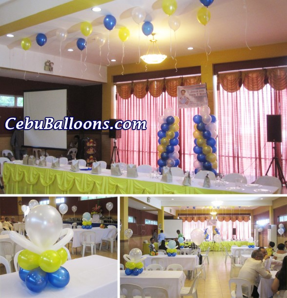 Simple Wedding-Christening Balloon Decoration at Hannah's Party Place