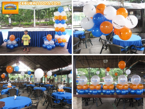 Skylanders Giants Balloon Decoration Theme at Sand Trap Resto Bar