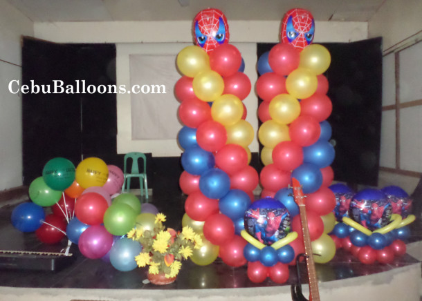 Spiderman cebu balloons and party supplies for Balloon decoration packages