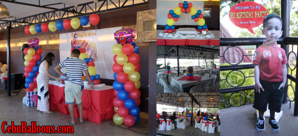 Spiderman Balloon Decor with Standee and Clown at Orosia