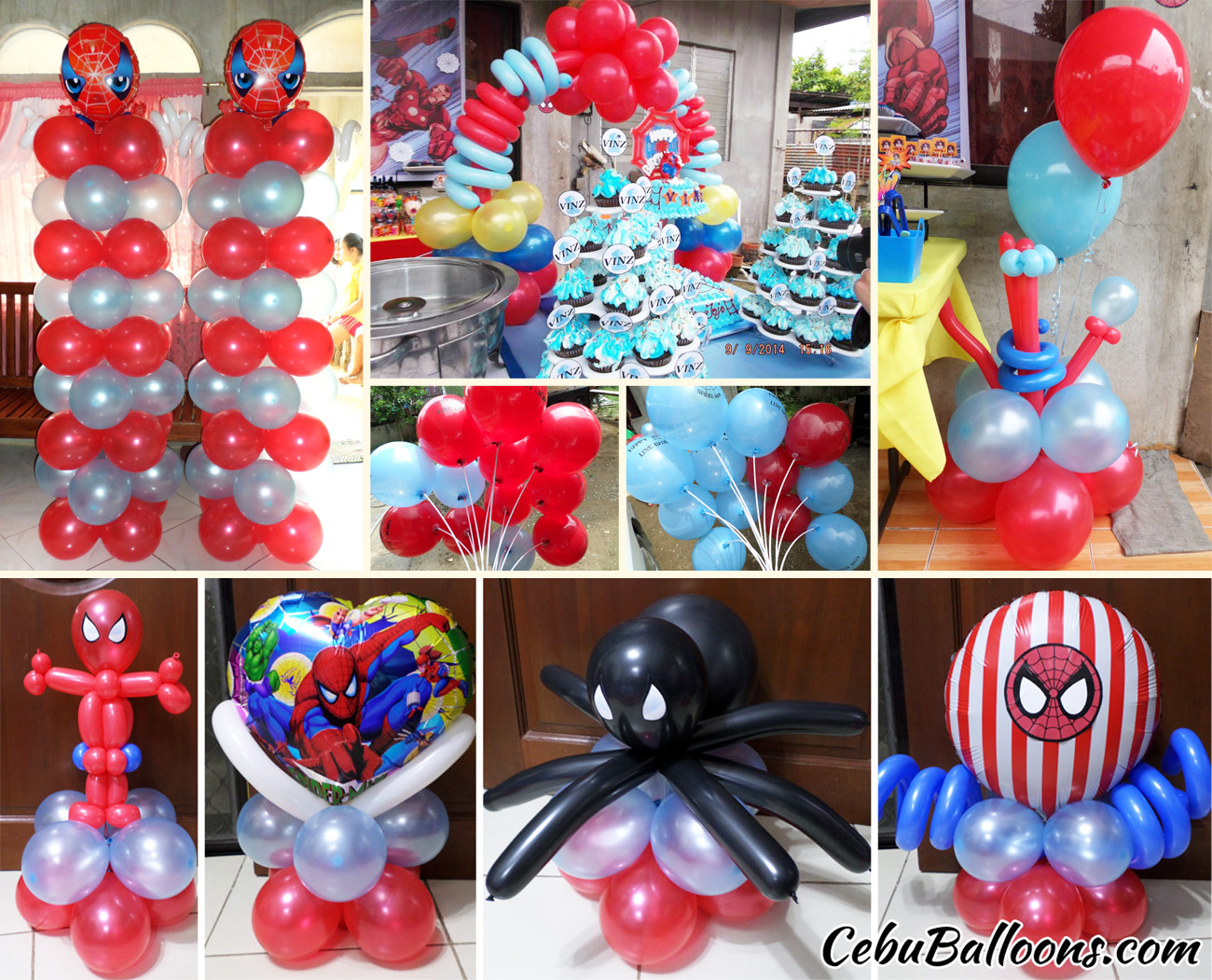 Spiderman Balloon Decoration Package at Bajac Liloan & Spiderman | Cebu Balloons and Party Supplies