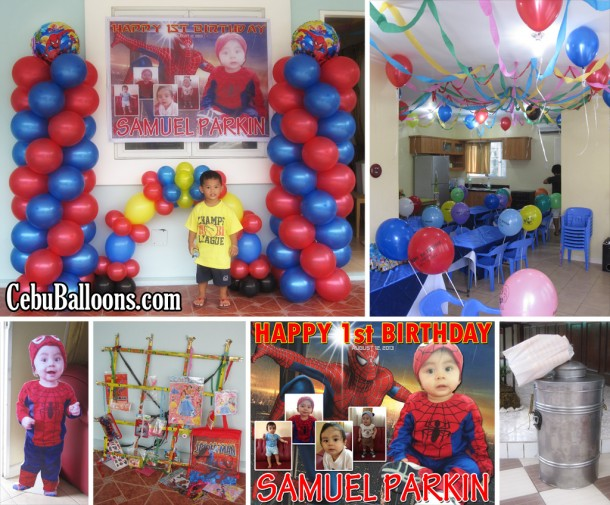 Spiderman Balloon Decoration Package at Sunvalley Drive