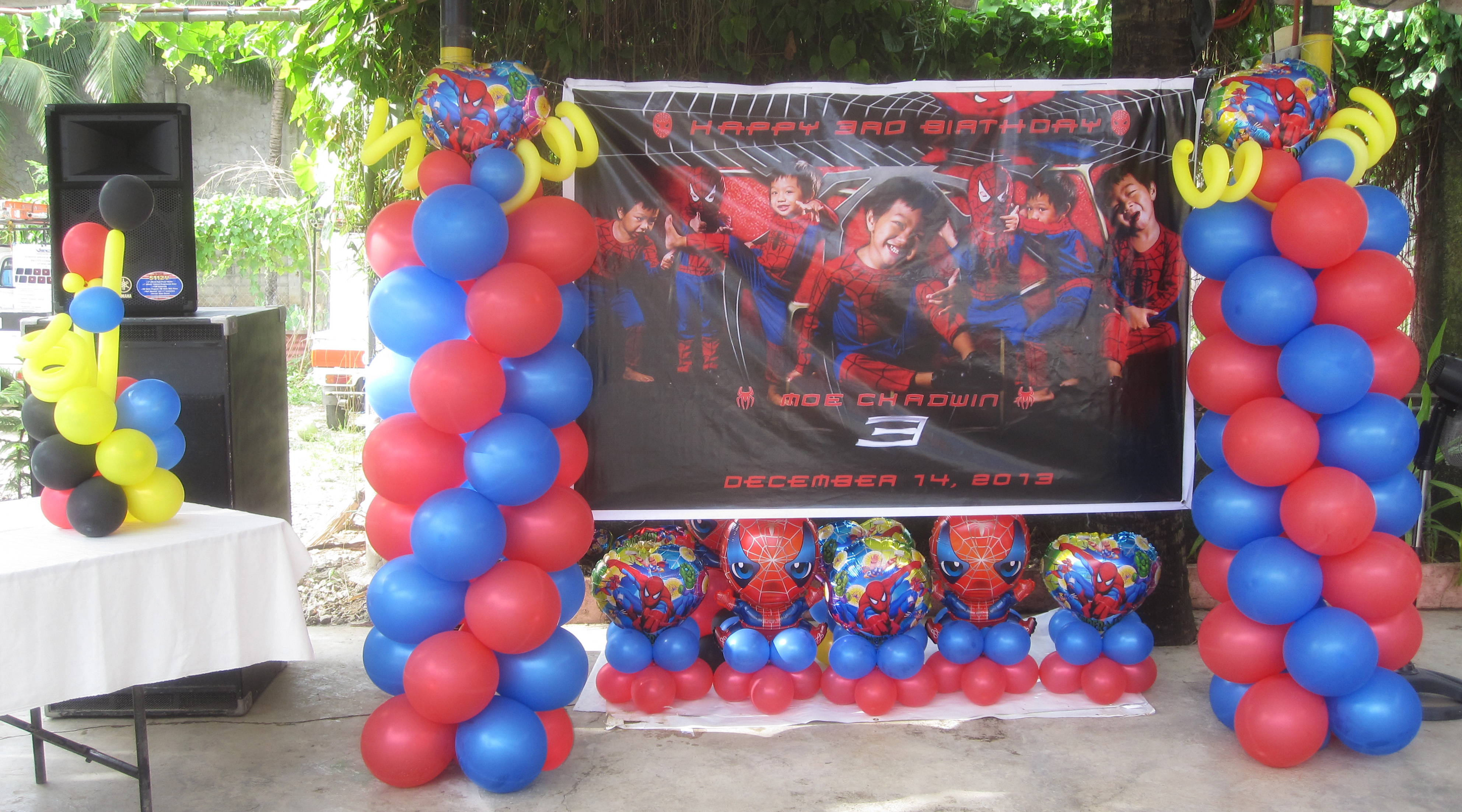 Spiderman cebu balloons and party supplies for Spiderman decorations