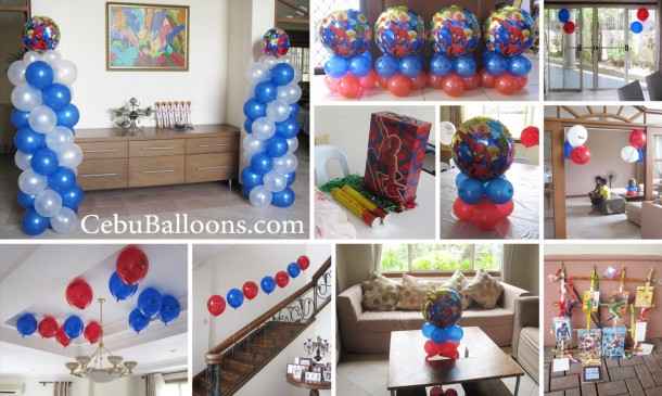 Spiderman Theme Balloon Decoration & Party Package at North Town Homes