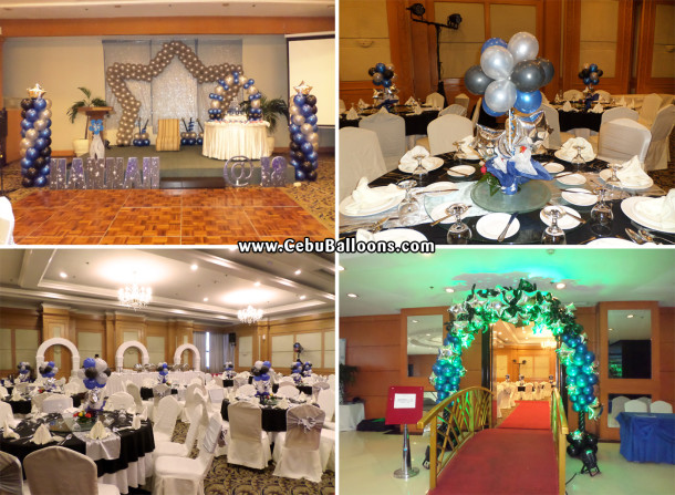 Starry starry night Balloon Decors for a Debut Celebration at Parklane Hotel