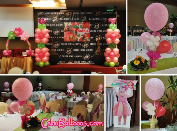 Strawberry Shortcake Balloon Decoration Package at Allure Hotel and Suites